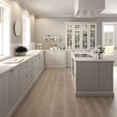 New Kitchen Cabinets Blue Gray Ideas Kitchen Wall Colors, Home Decor Kitchen, Kitchen Layout, Kitchen Living, Kitchen Interior, New Kitchen, Kitchen White, Country Kitchen, Gray Kitchen Walls