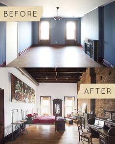 BEFORE & AFTER: A STUNNING TRANSFORMATION FOR AN UPSTATE NEW YORK INN http://www.designsponge.com/2014/01/before-after-a-stunning-transformation-for-an-upstate-new-york-inn.html