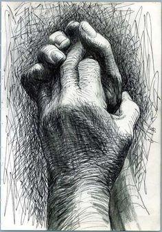 """The artist's hands"" Illustration de l'artiste britannique Henry Moore Basic Drawing, Life Drawing, Figure Drawing, Drawing Hands, Natural Form Artists, Natural Forms, Henry Moore Drawings, Pencil Drawings, Art Drawings"