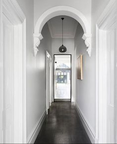 hallway decorating 445715694365960002 - Haymes Gemmola LR Source by Queenslander House, Weatherboard House, Hallway Paint, Entry Hallway, Tiled Hallway, Dark Hallway, Interior Trim, Interior Styling, Painted Wooden Floors
