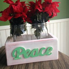Rustic Mason Jar Planter Small by TwoBlueBalloons on Etsy