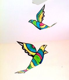 Mobile, Baby Mobile - Bird Mobile - Handmade - hanging mobile for babies and children - cr... $25 Bird Mobile, Mobile Baby, Hanging Mobile, Moose Art, Babies, Children, Handmade, Animals, Toddlers