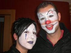 A couple of Clowns!! Face Painting
