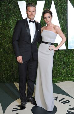 David Beckham Photos - Celebrities at the 2012 Vanity Fair Oscar Party at the Sunset Tower hotel in Hollywood, CA on February Pictured: David Beckham, Victoria Beckham - The 2012 Vanity Fair Oscar Party 2 David Beckham, David Y Victoria Beckham, Victoria Beckham Stil, Victoria And David, Celebrity Wedding Hair, Celebrity Couples, Celebrity Style, Posh And Becks, The Beckham Family