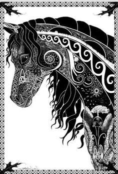 Dessin cheval celtic