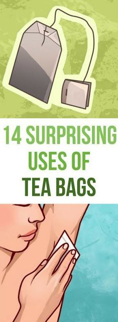 14 Surprising Uses for Tea Bags. You'll Never Look at Those Tea Bags the Same Way Again - Health Care & Fitness Tips Natural Cures, Natural Healing, Natural Skin, Health And Beauty, Health And Wellness, Wellness Tips, Used Tea Bags, Uses For Tea Bags, Beauty Care