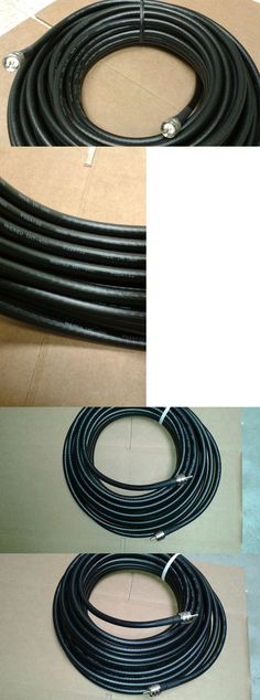 Coax Cables and Connectors: Us Made Lmr-400 50 Ft Uhf/Uhf Male Pl259 Coax Cable Cb,Ham,Scanner BUY IT NOW ONLY: $50.0