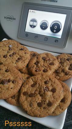 COOKIES CON CHOCOLATE EN THERMOMIX ® Sweet Recipes, Snack Recipes, Dessert Recipes, Healthy Recipes, Snacks, Healthy Food, Chocolate Thermomix, Thermomix Desserts, Brownie Cookies