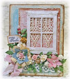 """Good Wednesday morning, all! With today's card, I got my """"crafty"""" on. :) I put together another digital paper with a fun torn paper edge d..."""