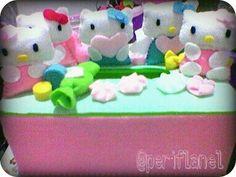 Tissue Box. Hello Kitty. Felt. Handmade.