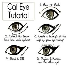 For the perfect cat eye, start from your bottom lash to make the wing. | 24 Beauty Secrets You Should Really Know