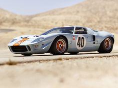 photos of ford gt40 race cars | 1968 Ford GT40 Gulf/Mirage Lightweight Racing Car