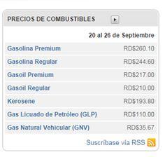 Precio de los combustibles para la semana del 20 al 26 de Septiembre 2014 en la República Dominicana