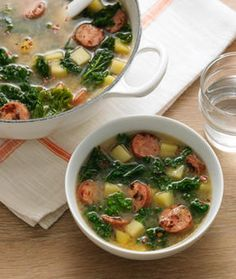 Sausage and Kale Soup. With potatoes. So much like Macaroni Grills. Yes.