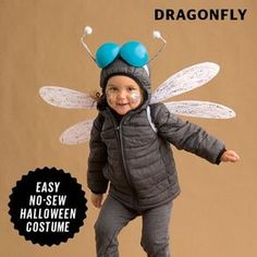 Fly on, little dragonfly! The best part about this Halloween costume? You can wear a winter coat with it!