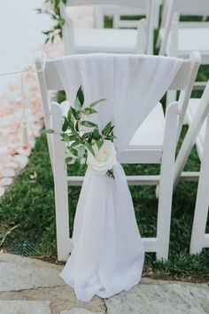 white and green wedding aisle decor