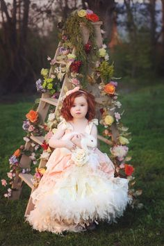 """Eternal Fairytale""... A Luxurious Flower Girl Dress"