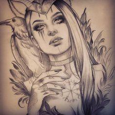 Sketch for shauni suoss tattoo – ink ideas – … – diy tattoo images – Tattoo Sketches & Tattoo Drawings Viking Tattoos, Leg Tattoos, Body Art Tattoos, Girl Tattoos, Sleeve Tattoos, Tattoo Sketches, Tattoo Drawings, Drawing Sketches, Diy Tattoo