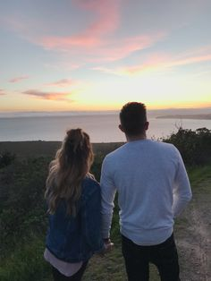 Adventure, couple goals , hair , outfits , jean jacket , sunset , love ,