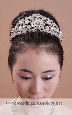 Beaded Hair Nets   Bridal Rhinestone Beaded Crown Hair Comb Shining - Wedding Dresses ...