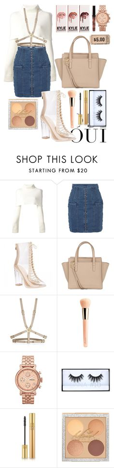 """crazy in love - Beyonce"" by annabidel ❤ liked on Polyvore featuring Oui, Maison Margiela, Balmain, Salvatore Ferragamo, BCBGMAXAZRIA, Guerlain, FOSSIL, Huda Beauty and Yves Saint Laurent"