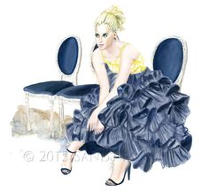 Illustration by SANDY M {ooh la frou frou}