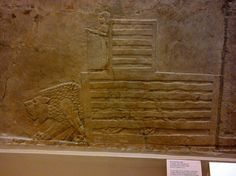 The little boy releases the Lion. The Lion reliefs at Nineveh. British Museum