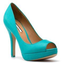 pullbear coleccion peep toe turquoise