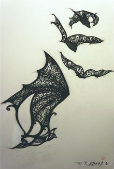 bat tattoo designs | Design for bat tattoo