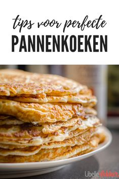 Perfect pancakes, our tips for success - Pancakes, that& always a party. With these tips and tricks from Libelle Lekker it just cannot - Dutch Pannekoeken Recipe, Oatmeal Pancakes Easy, Dutch Pancakes, Keto Pancakes, Food Porn, Dutch Recipes, Blueberry Recipes, Perfect Breakfast, Perfect Food