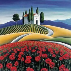 Poppies of Provence by Diana Adams