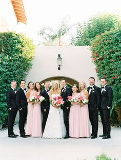 The Most Heartfelt Wedding with Romantic Pink Tones and a Blooming Rose Escort Display Black Bridal Parties, Wedding Parties, Pink Wedding Theme, Wedding Dress Pictures, Blush Bridal, Blooming Rose, Little Black Books, Pink Tone, Black Tuxedos