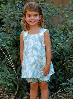 Mayah Reversible Pinafore and Bloomers Sizes by sewsweetpatterns, $6.00