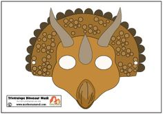 Triceratops Dinosaur Mask