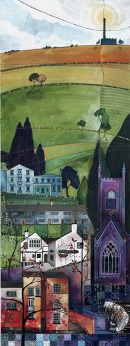 Little Box House was commissioned by the couple living there and a ltd edition print is hanging in The Lord Nelson, Luddenden. £160 ltd edition giclee print by Kate Lycett at Heart Gallery