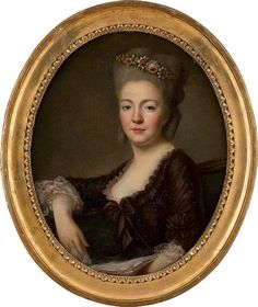 Alexander Roslin (Malmö, 1718 - Paris, 1793) - Portrait einer Dame, Öl auf Leinwand 63,5x54 cm, Oval