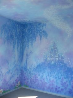 Another Kid's Room Wall Mural; I'm SO doing this when we have kids!  :) || Painted Planet