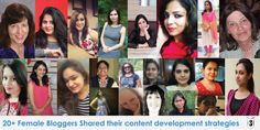 20  Female Bloggers shared their content development strategies