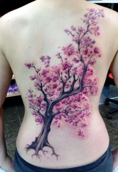 Cherry blossom tree tattoo on shoulder tat 35 ideas Vine Tattoos, Foot Tattoos, Flower Tattoos, Body Art Tattoos, Tatoos, Blossom Tree Tattoo, Tree Tattoo Back, Cherry Blossom Tree, Blossom Trees