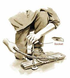 Souvenez-vous de vos premiers essais pour allumer un feu par friction, munis d'une planchette et d'un bâton que vous faisiez tourner entre vos mains. Généralement ça finissait avec les mains brûlante et pas la moindre flammèche sur la planche. Il faut avouer que cette technique est sûrement la plus ancienne mais également une des plus difficile.