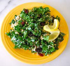 My Recession Kitchen...and garden: Kale Quinoa Salad with Hazelnuts Pesto