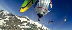 TOTALGAZ ECO BALLOON with wingsuit and paragliding activities.