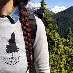 """The perfect sweatshirt for a crisp day hike."" - @greatwildopen #forgeyourownpath"