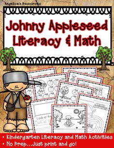 Johnny Appleseed Activities Literacy And Math Printables