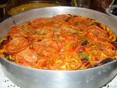 πίτσα για χορτοφάγους .... @pezoula_paros Ratatouille, Curry, Ethnic Recipes, Food, Curries, Essen, Yemek, Meals
