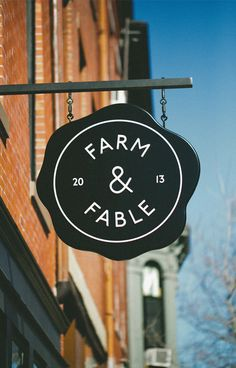 Farm & Fable Sign