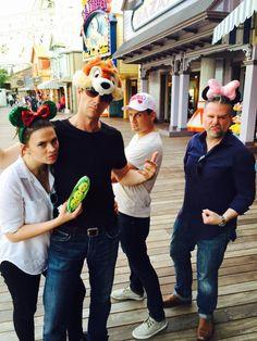 The Agent Carter squad at Disneyland