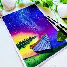 Watercolor Paintings For Beginners, Canvas Painting Tutorials, Watercolor Drawing, Watercolor Cards, Watercolor Illustration, Watercolor Flowers Tutorial, Watercolour Tutorials, Amazing Paintings, Mini Paintings