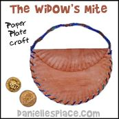 The Widow's Mite Paper Plate Craft from www.daniellesplace.com