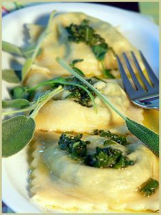 Sage Butter and Spinach Ravioli